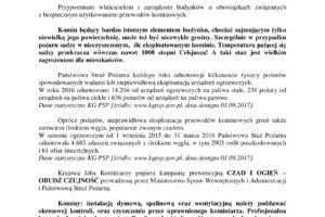 Komunikat Prezesa Krajowej Izby Kominiarzy 2017-1