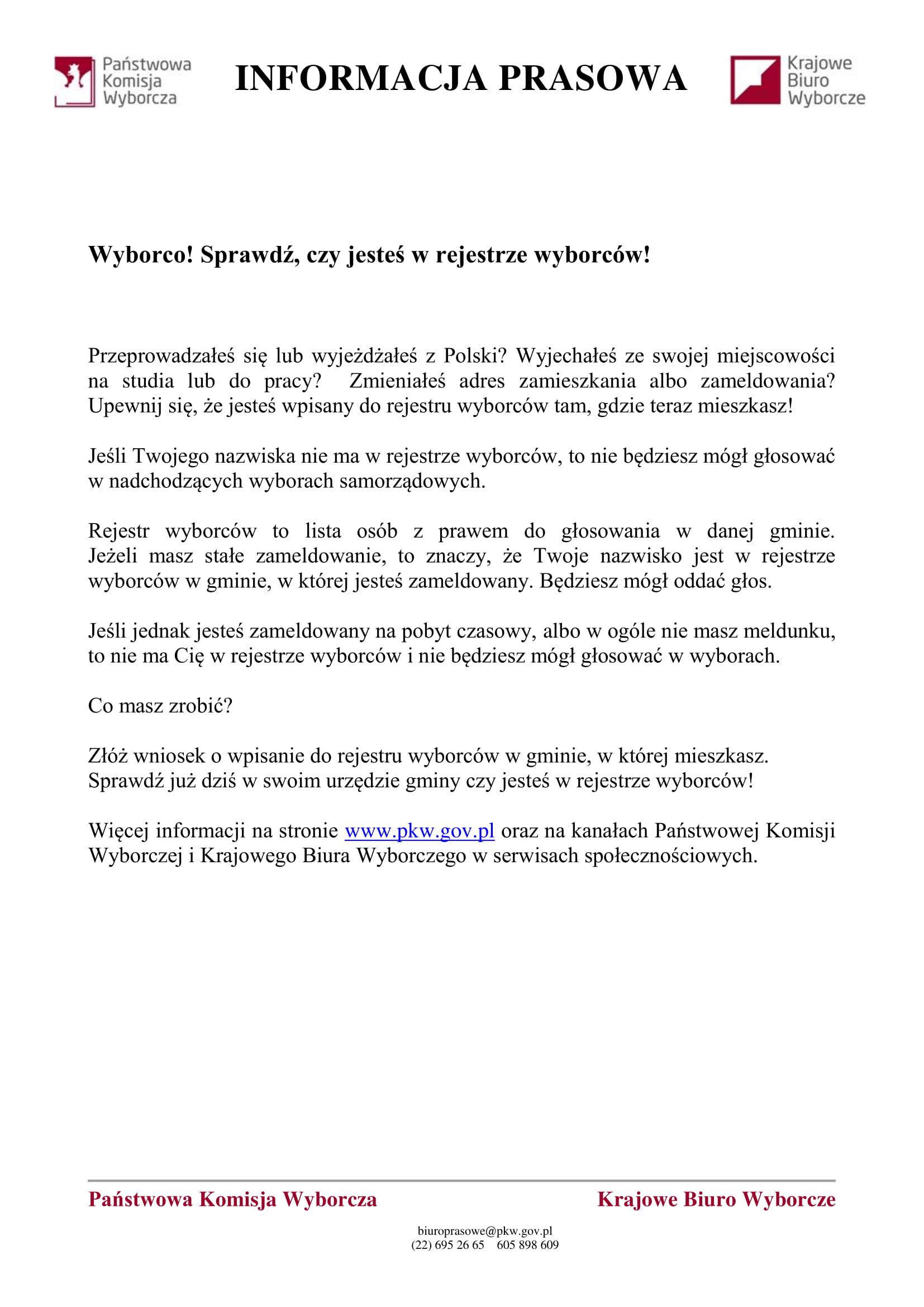10.01.2018 Informacja prasowa - rejestr wyborców-1