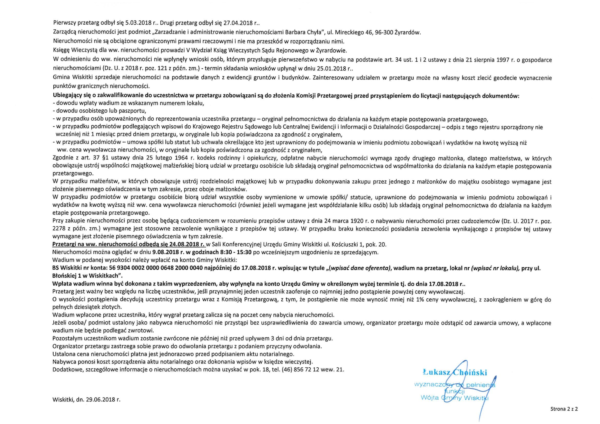 III przetarg lokale 2,6 ul. Błońska 1 w Wiskitkach na sprzedaż-2