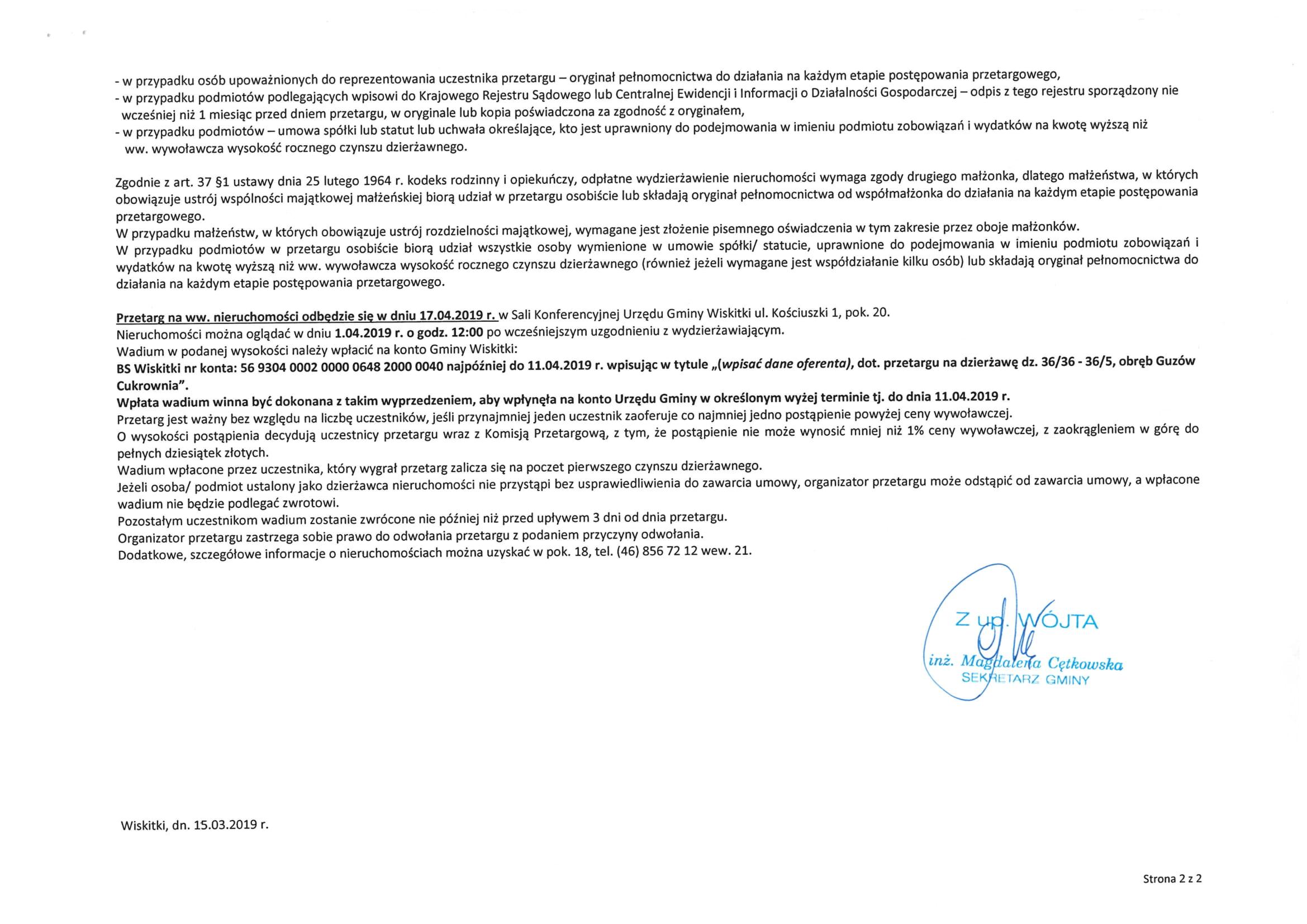 I przetarg dzierżawa dz. 36_35-36_50 Guzów Cukrownia-2