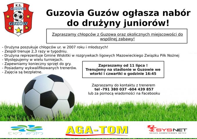 Guzovia Guzów rekrutuje juniorów